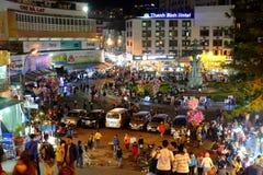 Crowded, Dalat night market, marketplace, shopping royalty free stock photos