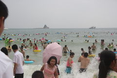 THE crowded OF Dameisha Waterfront Park IN Shenzhen ,CHINA,ASIA Royalty Free Stock Image