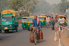 Crowded Delhi traffic Stock Photos