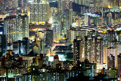 Crowded downtown building in Hong Kong Stock Image