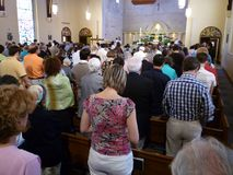 Crowded Easter Mass Stock Photos