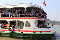 Crowded ferry Royalty Free Stock Image