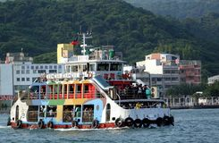 Crowded Ferry Boat in Kaohsiung Port Royalty Free Stock Photography