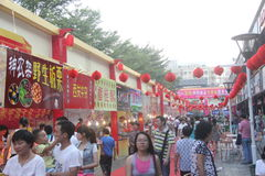 The crowded Food Court in SHENZHEN,CHINA,ASIA Stock Photography