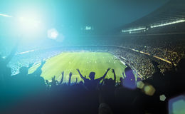 Crowded football stadium Royalty Free Stock Image