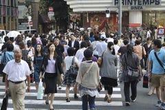 Crowded Ginza Stock Photo