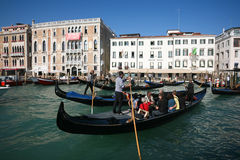 Crowded gondolas Royalty Free Stock Photography