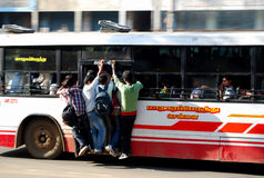 Crowded government  bus in chennai Royalty Free Stock Photo