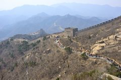 Crowded Great Wall Royalty Free Stock Image