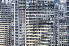 Crowded High rise apartments Royalty Free Stock Photos