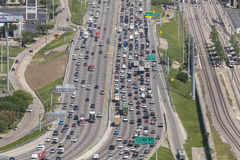 Crowded highway in the USA Royalty Free Stock Images