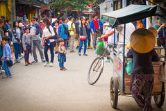 Crowded Hoi An Street, Vietnam Royalty Free Stock Photography