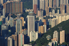 Crowded Hong Kong skyline scene Royalty Free Stock Image