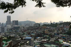 Crowded houses of seoul Stock Image