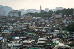 Crowded houses of seoul Royalty Free Stock Photos