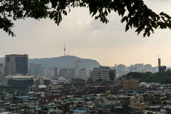 Crowded houses of seoul Stock Photography