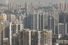 Crowded housing in china Royalty Free Stock Image