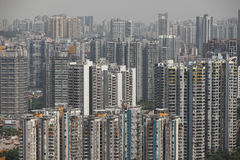 Crowded housing in china. Crowded housing in Chongqing China royalty free stock photo