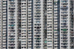 Crowded housing in Hong Kong Stock Photography