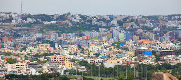 Crowded Hyderabad city Stock Images