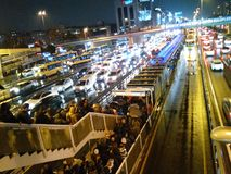 Crowded İstanbul Royalty Free Stock Photos