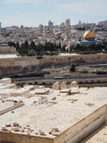 Crowded Jewish Cemetery on Mount of Olives in Jerusalem Israel. A large and crowded Jewish cemetery on the Mount of Olives in Jerusalem Stock Image