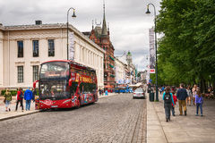 Crowded Karl Johans gate, Oslo, Norway Stock Photos