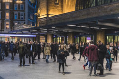 Crowded Kings Cross station in London Stock Photography