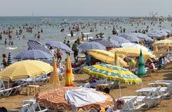 Crowded Kizkalesi Beach Stock Images