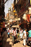 Crowded lane in the old city of Delhi, India Stock Images