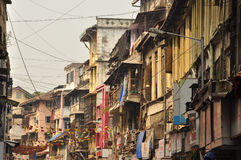 Crowded lane in the old city of Mumbai, India Stock Photo
