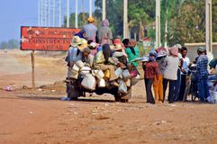 Crowded Local Transport. Busy and crowded local transport used in Western Cambodia Royalty Free Stock Images