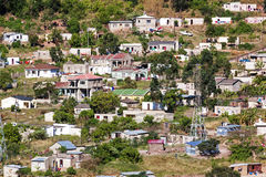 Crowded Low Cost Township Housing  Settlement in Marianne Hill Royalty Free Stock Photos