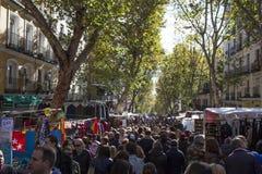 Crowded Madrid Rastro, Spain Stock Photography
