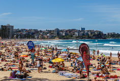 Crowded Manly Beach Royalty Free Stock Photos