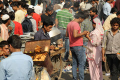 A crowded market, Delhi. India. Royalty Free Stock Image