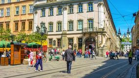 The crowded Market Square stock footage