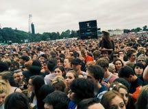 Crowded Marlay Park Royalty Free Stock Photos
