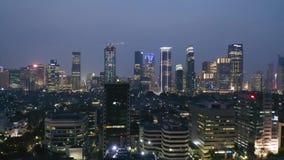 Crowded modern buildings in Jakarta city
