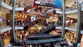 Crowded modern shopping mall, Sydney, Australia stock video footage