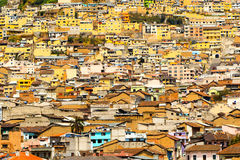 Crowded Neighborhood Quito Royalty Free Stock Photography