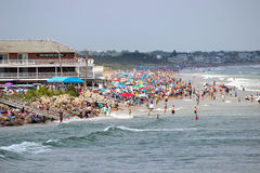 Crowded Ogunquit Beach Stock Photos