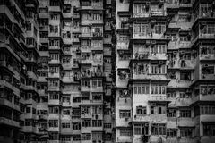 Crowded and old asian housing Royalty Free Stock Photo