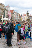 Crowded old square Royalty Free Stock Images