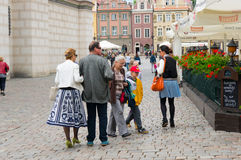 Crowded old square Stock Image