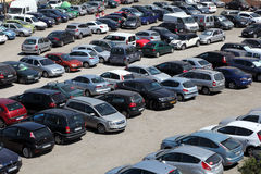 Crowded parking lot Royalty Free Stock Image