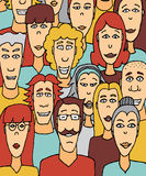 Crowded people / Colorful crowd Stock Photo