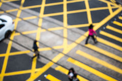 Crowded people crossing road Stock Image