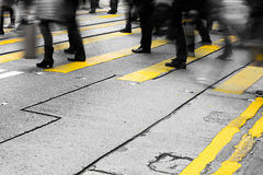Crowded people crossing road Royalty Free Stock Photography