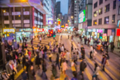 Crowded people living in rush Stock Image